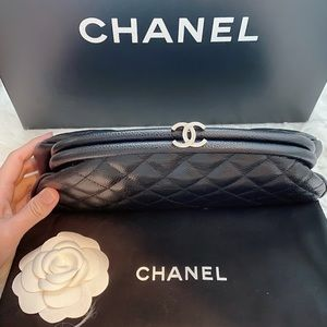 Authentic CHANEL Classic Timeless Clutch Caviar
